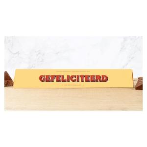 Toblerone chocoladereep Gefeliciteerd
