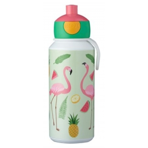 Mepal Drinkfles pop-up Campus 400 ml - Tropical Flamingo