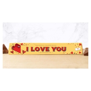 Toblerone chocoladereep I Love You