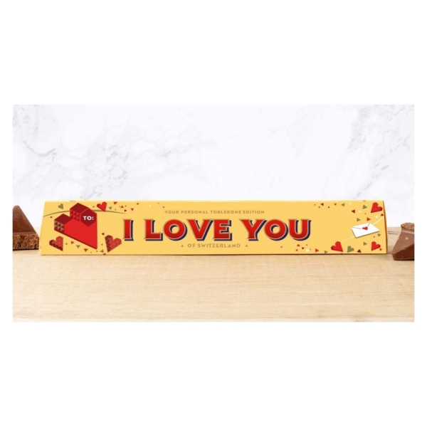 Toblerone chocoladereep I Love You