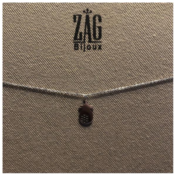 ZAG Bijoux Ketting Ananas Zilver