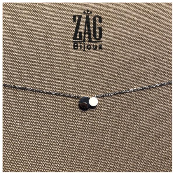 ZAG Bijoux Ketting Witte Bedel Zilver