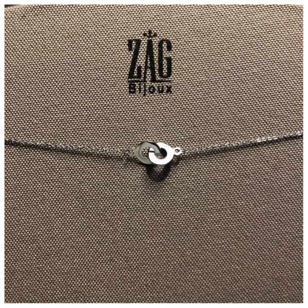 ZAG Bijoux Ketting 2 Ringen Zilver