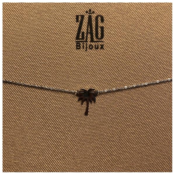 ZAG Bijoux Ketting Palmboom Zilver