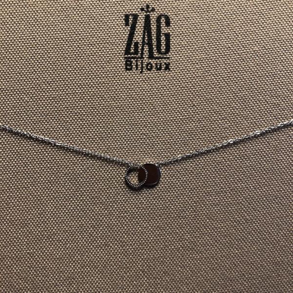 ZAG Bijoux Ketting Glimmende Cirkels Zilver