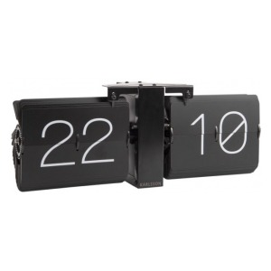 Karlsson Flip clock No Case Black KA5602BK