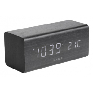 Karlsson Table clock Block Black KA5652BK