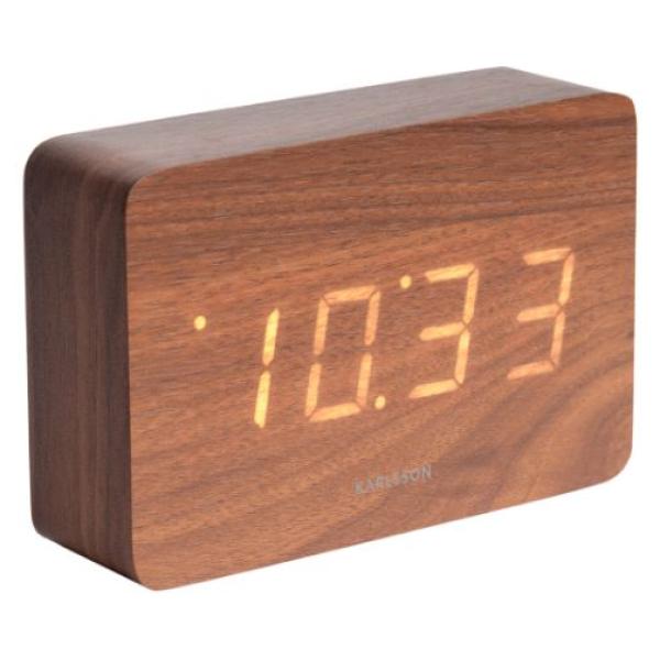 Karlsson Table clock Square Dark Wood KA5653DW