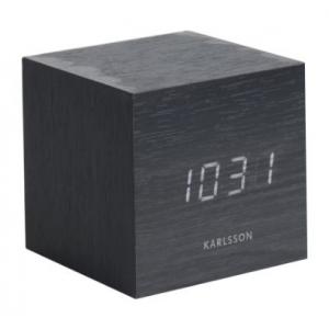 Karlsson Table clock Cube Black KA5655BK