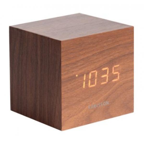 Karlsson Table clock Cube Dark Wood KA5655DW