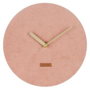 Karlsson Wall clock Corduroy Pink KA5671PI