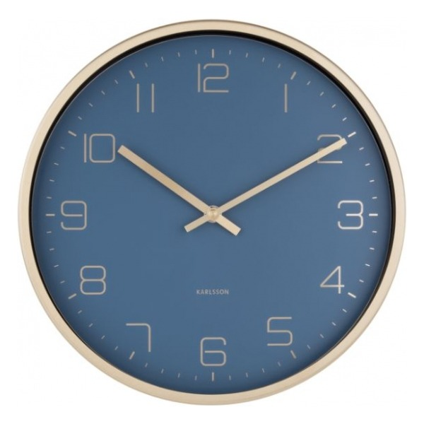 Karlsson Wall Clock Gold Elegance Blue KA5720BL