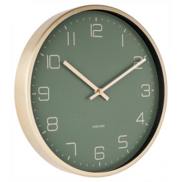 Karlsson Wall Clock Gold Elegance Green KA5720GR