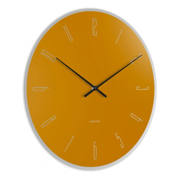Karlsson Wall clock Mirror Numbers Ochre Yellow KA5800YE