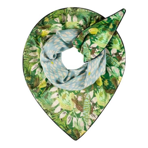 POM Amsterdam SHAWL - Double Jungle Beats Green