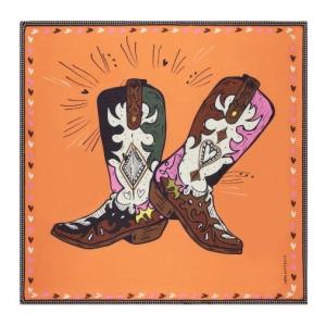 POM Amsterdam SHAWL - Dancing Boots Orange