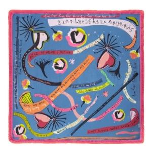 POM Amsterdam SHAWL - Colourful Dreams Blue