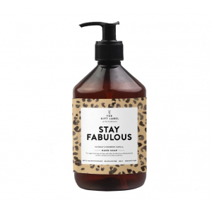 The gift label handsoap Stay fabulous