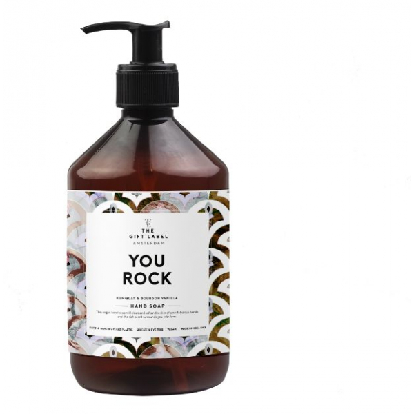 The gift label handsoap You rock