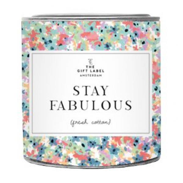 The Gift Label Geurkaars in blik - Stay Fabulous