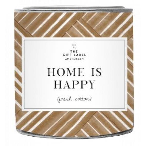 The Gift Label Geurkaars in blik - Home is Happy