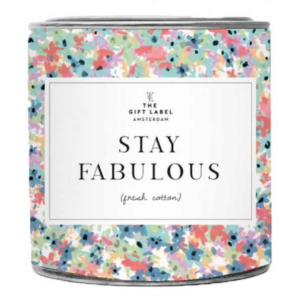 The Gift Label Grote geurkaars in blik - Stay Fabulous