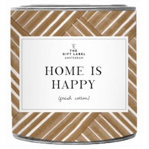 The Gift Label Grote geurkaars in blik - Home is Happy