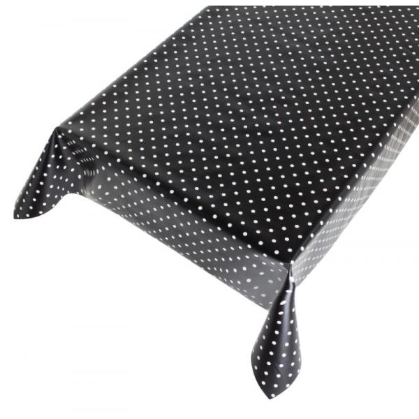Tafelzeil Dots Black
