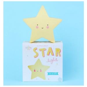 A Little Lovely Company Little light: Ster - geel