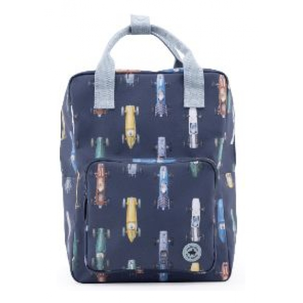 Studio Ditte backpack large boys race cars
