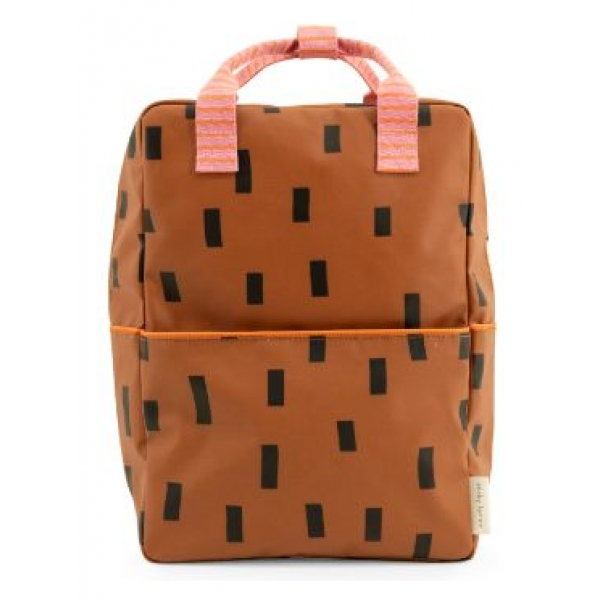 Sticky Lemon backpack large syrup brown bubbly pink