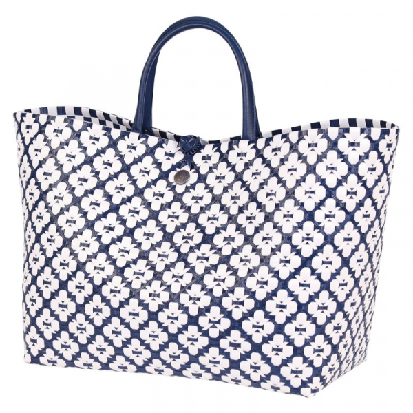 Handed By Motif Bag Navy