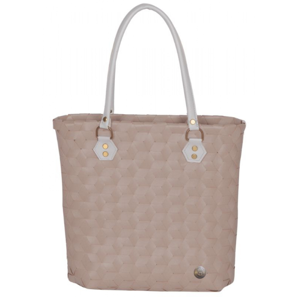 Handed By Bag fat strap sisal size S with PU handles