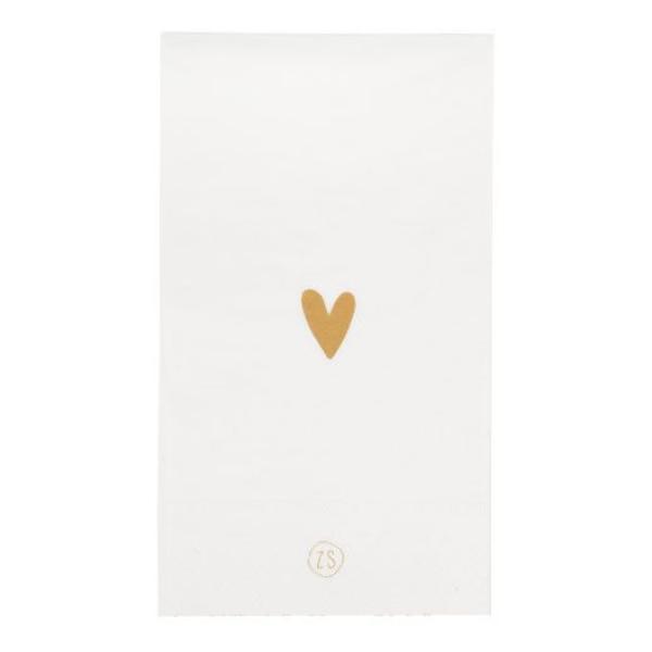 Zusss servetten goud hartje wit