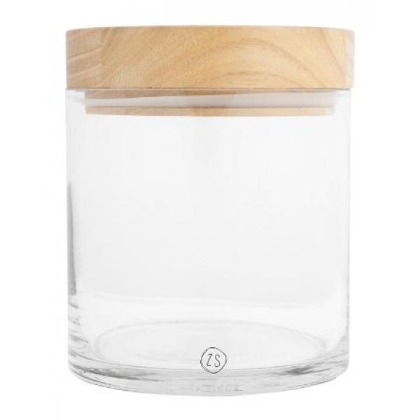 Zusss voorraadpot met houten deksel M collect moments glas