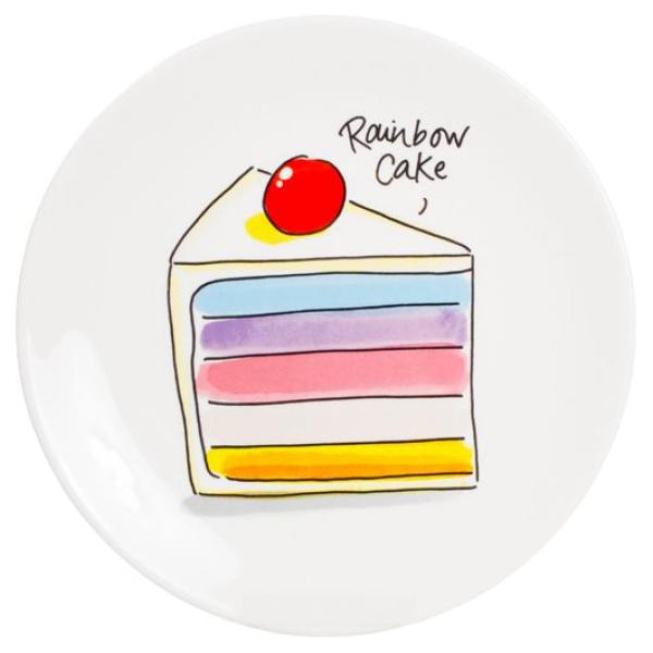 Blond Amsterdam Taartbord Rainbow Cake