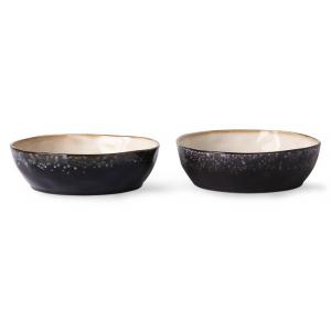 HKliving Ceramic 70's Pasta bowls galaxy (set of 2)