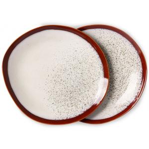 HKliving Ceramic 70's Dinner plates frost (set of 2)