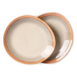 HKliving Ceramic 70's Side plates earth (set of 2)
