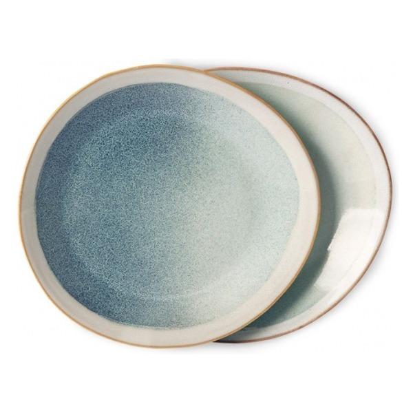 HKliving Ceramic 70's Side plates mist (set of 2)