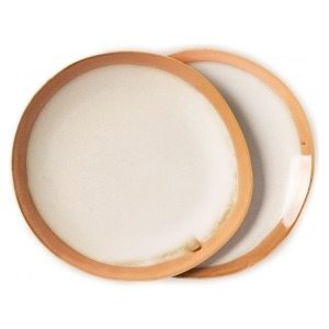 HKliving Ceramic 70's Dinner plates earth (set of 2)