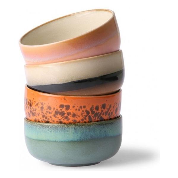 HKliving Ceramic 70's Dessert bowls (set of 4)