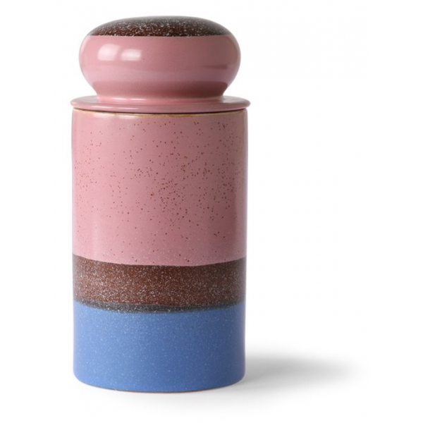 HKliving Ceramic 70's Storage jar reef