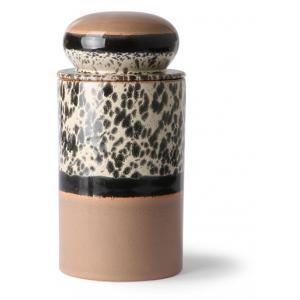 HKliving Ceramic 70's Storage jar tropical