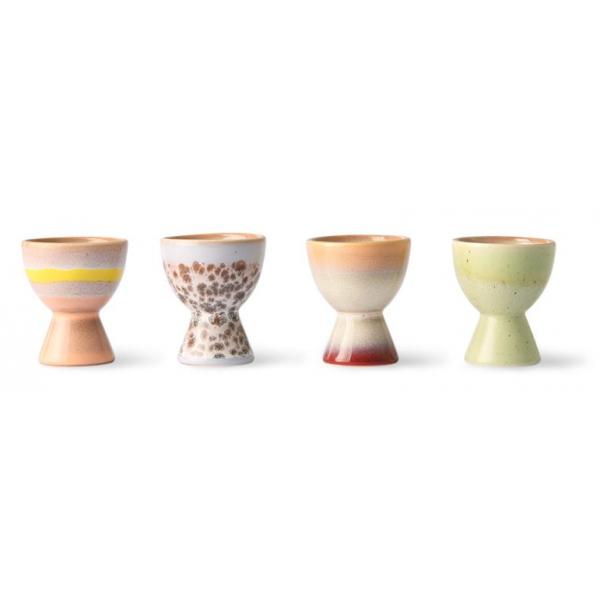 HKliving Ceramic 70's Egg cups (set of 4)