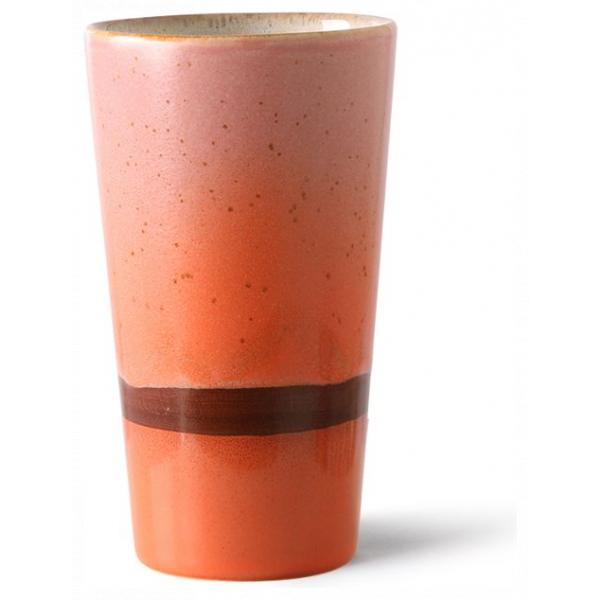 HKliving Ceramic 70's Latte mug mars