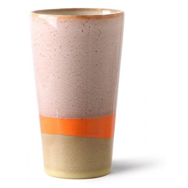 HKliving Ceramic 70's Latte mug saturn