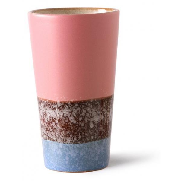 HKliving Ceramic 70's Latte mug reef