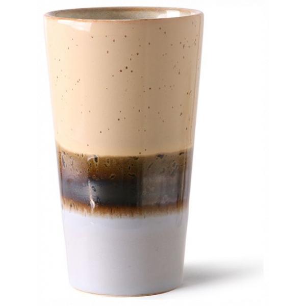 HKliving Ceramic 70's Latte mug lake