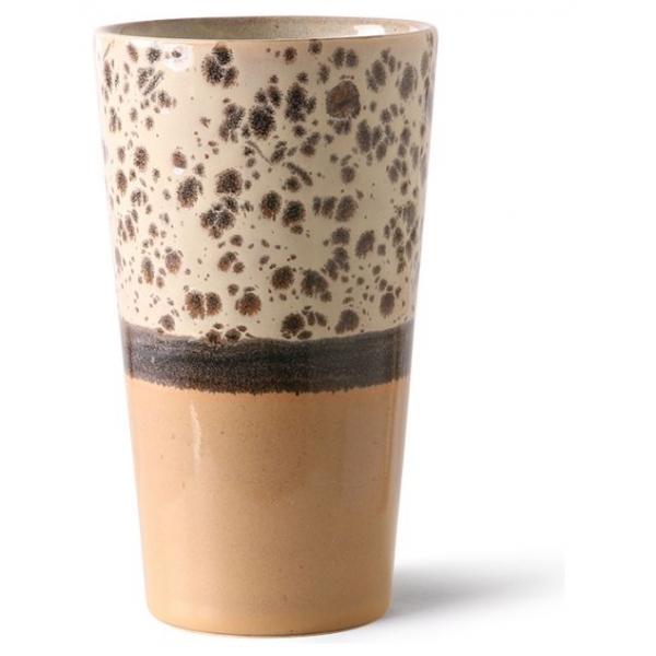 HKliving Ceramic 70's Latte mug tropical